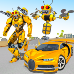 Bee Robot Car Transformation Game: Robot Car Games 1.30 APK