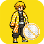 Coloring Demon Slayer By Number – Pixel Paint Book 47.0 APK