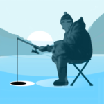 Ice fishing games for free. Fisherman simulator.  APK