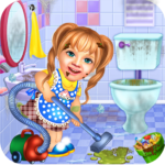 Sweet Baby Girl Cleaning Games 2021: House Cleanup  APK